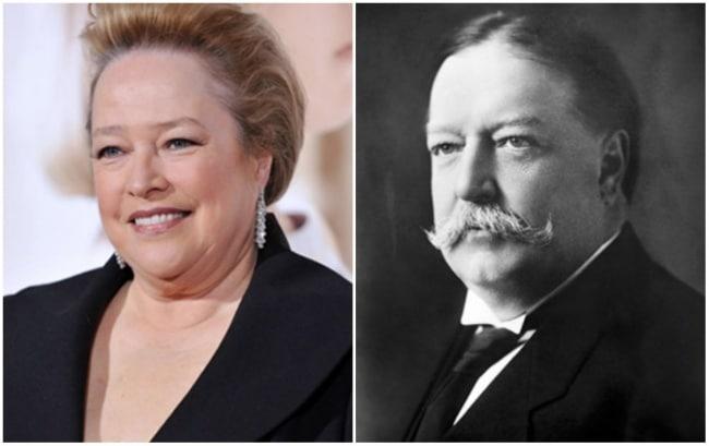 Kathy Bates e o 27º Presidente dos Estados Unidos, William Taft