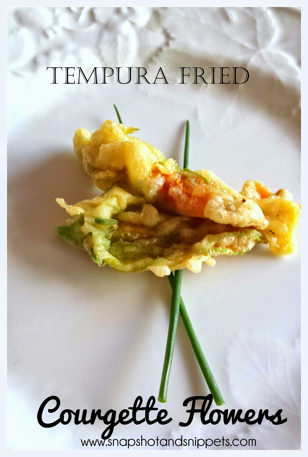 Tempura Fried Zucchini flowers
