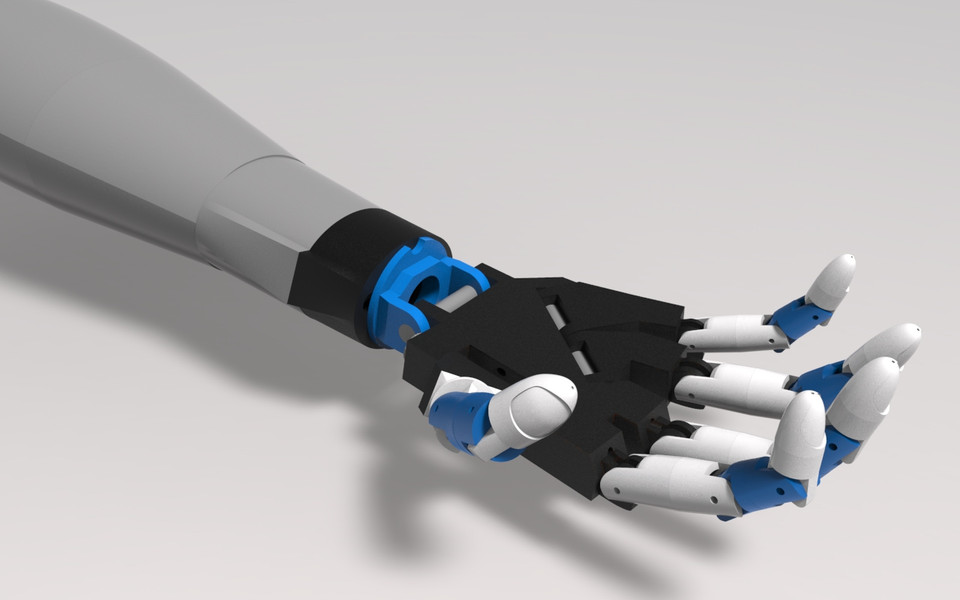 314  Robotic hand and arm || Printer Tech || Free download