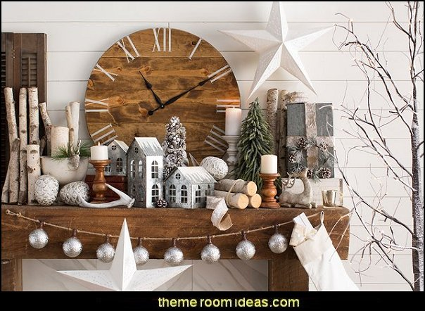 Rustic Christmas  decorating ideas - rustic Christmas decorations  - Vintage  -  Rustic  - Country style Christmas decorating -  rustic Christmas decor - Christmas stockings