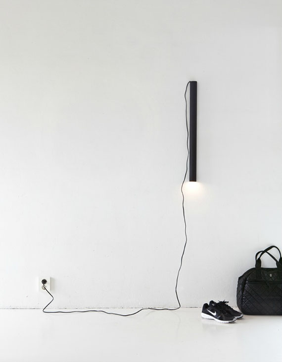 Black tube lamp diy by Annaleena's Hem