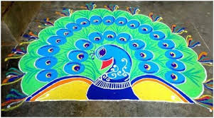 Rangoli Flower Peacock