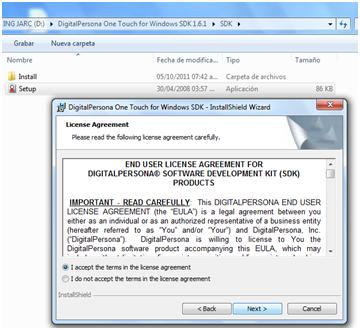 Programacion de U are U 4500 Fingerprint Reader Digital