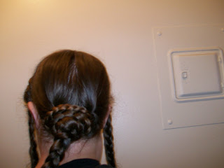 Half-way to a braided bun.