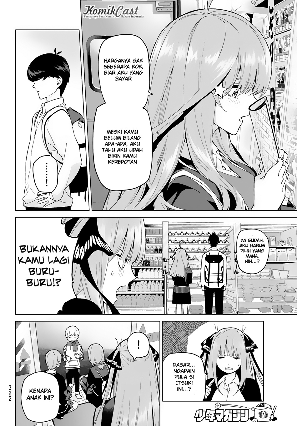 Manga Go-Toubun No Hanayome Chapter 19 Bahasa Indonesia
