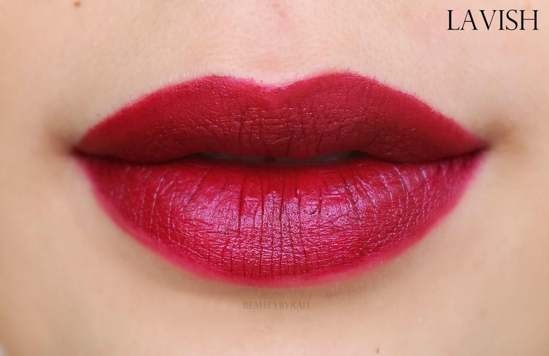 Palladio Velvet Matte Metallic Cream Lip Colour Lip Swatches
