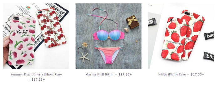 women apparel & swimwear