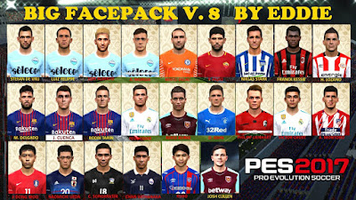 PES 2017 Facepack vol 8 by Eddie Facemaker