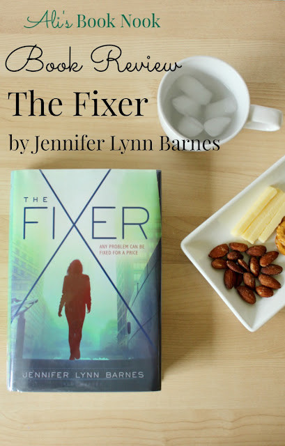 book review Fixer jennifer lynn barnes ya political thriller