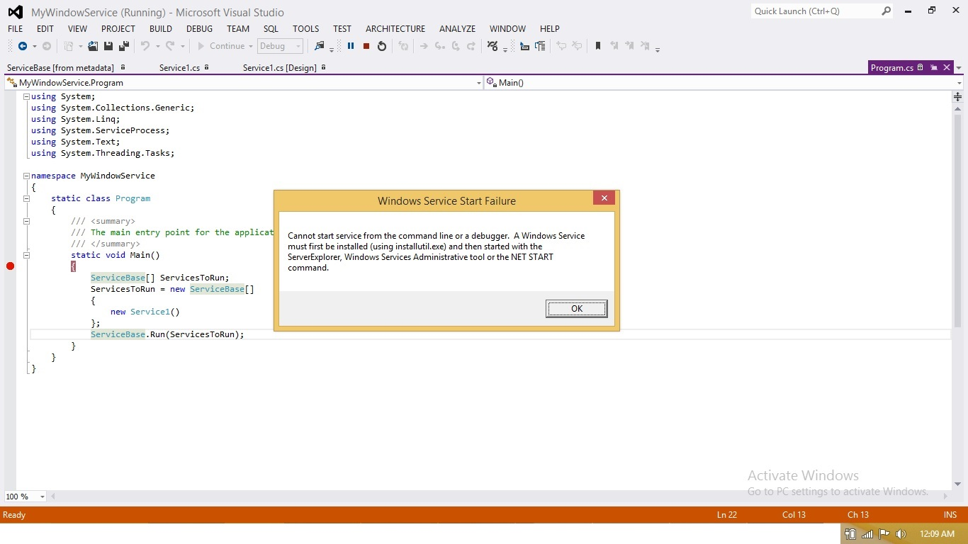 Windows Service Introduction And Debugging Windows Service