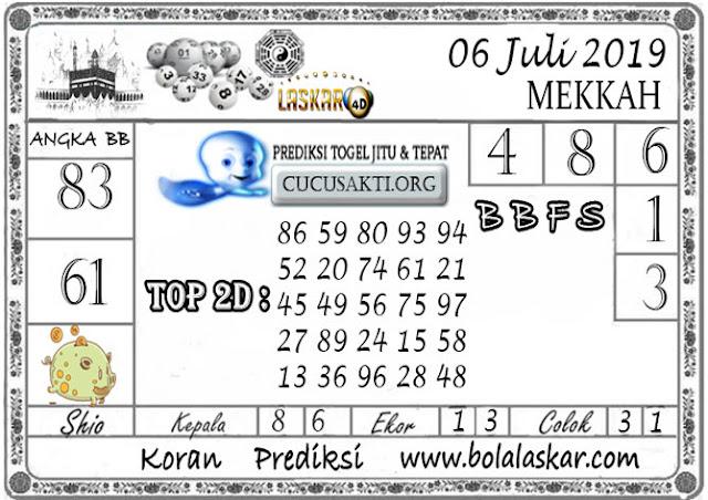 Prediksi Togel MEKKAH LASKAR4D 06 JULI 2019
