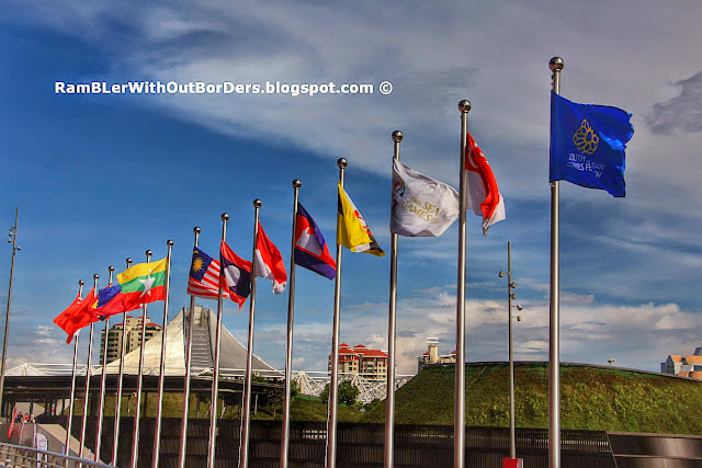 National flags, SEA Games, Sports Hub, Singapore