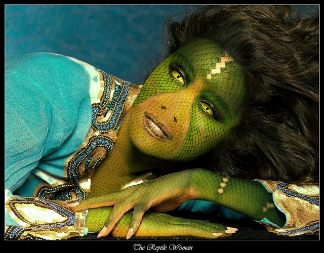 Puede tratarse de un pequeño homenaje a una diosa reptiliana de algún tipo
