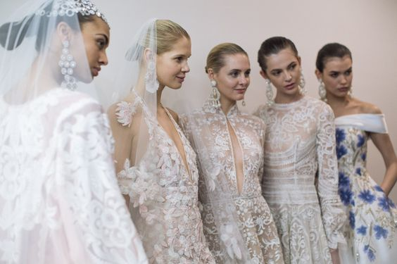 Wedding Dresses | Backstage At Naeem Khan Spring 2017 Bridal Fashion Week