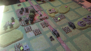 British infantry and Tanks attack th German lines