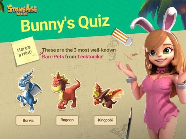 Cara Mengikuti Bunny Quiz di Stone Age Begins