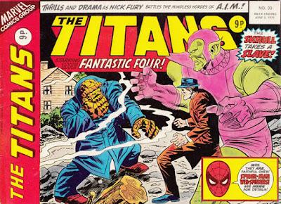 Marvel UK, The Titans #33, the Skrulls