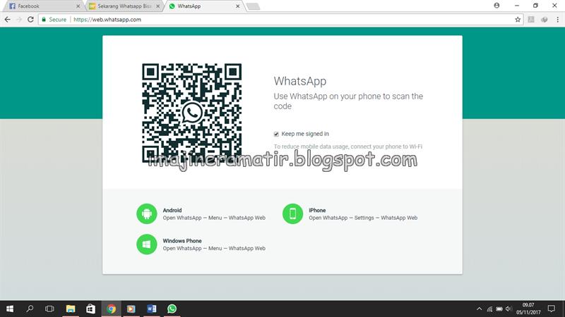 cara scan barcode whatsapp di iphone
