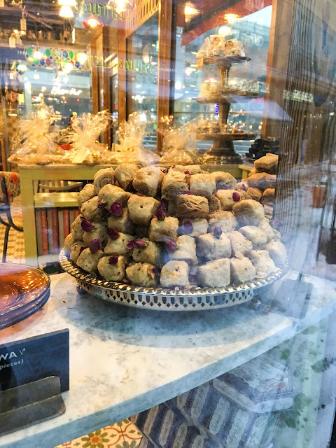 Baklawa in the window at Comptoir Libanais Reading Review