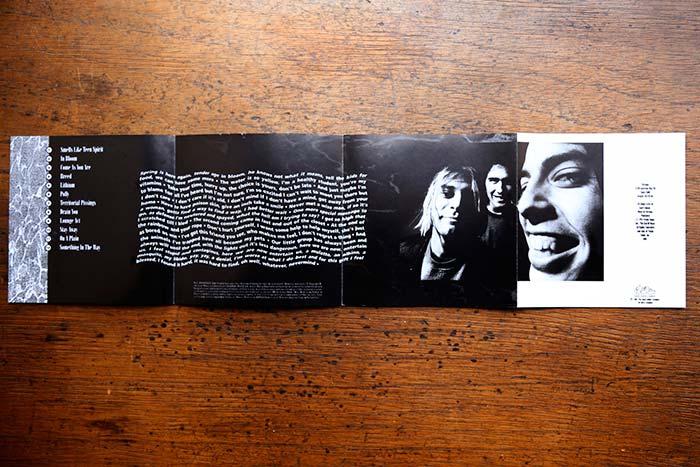 Nevermind, edición de 1992 por BMG, propiedad de Julián Franco, exibido en 4Works Studio