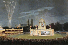 The Temple of Concord in Green Park on 1 August 1814   from An Historical Memento by E Orme (1814)