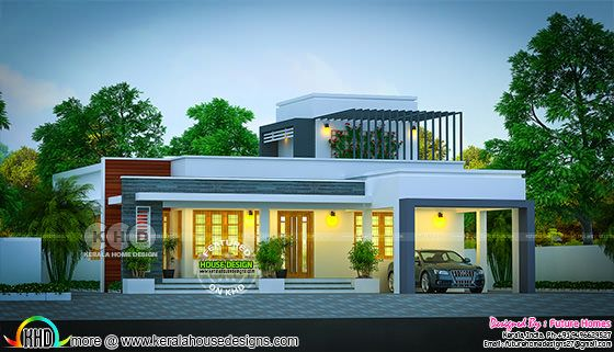 May 2018 home - Flat roof single storied house