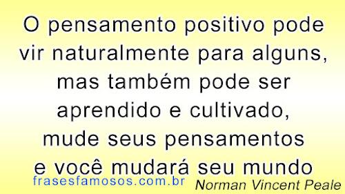 Pensamento Positivo - Frases do Escritor Norman Vincent Peale