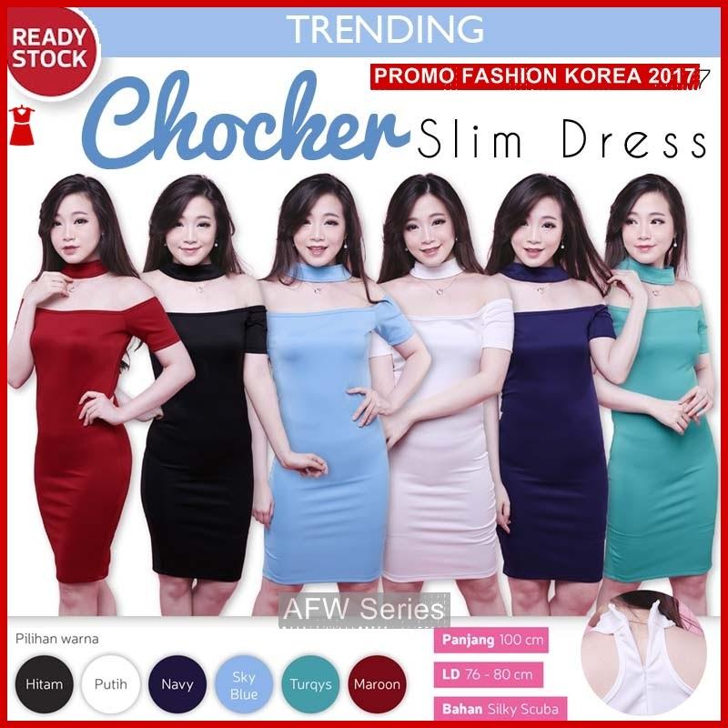 BAMFGW033 Chocker Sexy Dress Wanita PROMO BMG