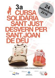 Cartel de la  3ª Cursa Solidària de Sant Just Desvern