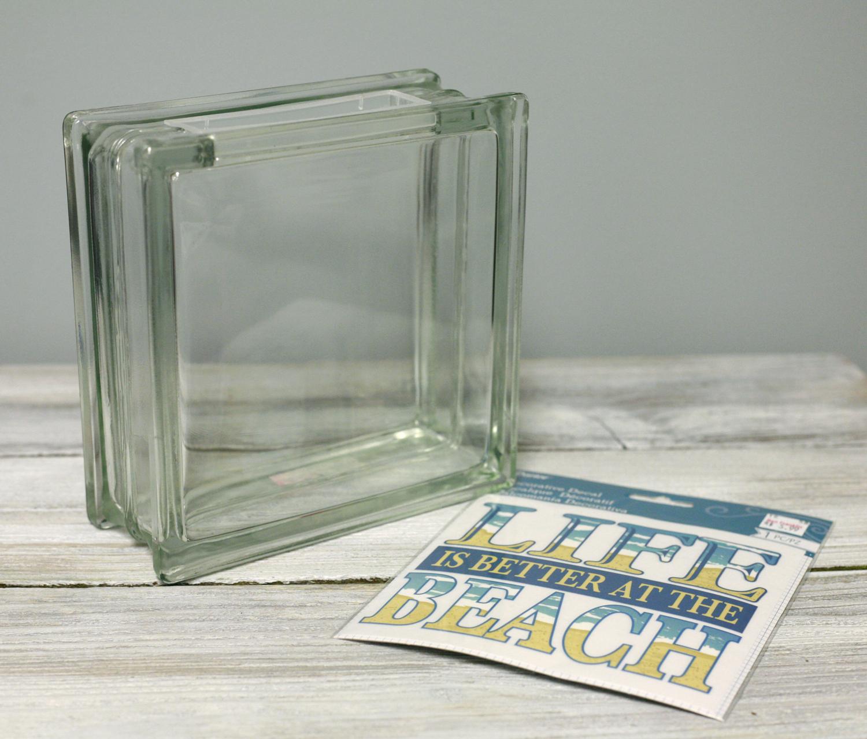 Ben Franklin Crafts And Frame Shop Diy Glass Block Beach