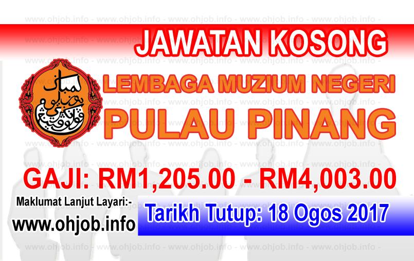 Jawatan Kerja Kosong Lembaga Muzium Negeri Pulau Pinang logo www.ohjob.info ogos 2017