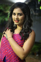 Srushti in beautiful Pink Sleeveless Dress Cute Actress Dimples ~  Exclusive 012.JPG