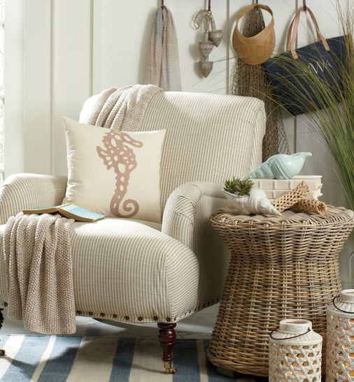 Rattan End Table for Coastal Living
