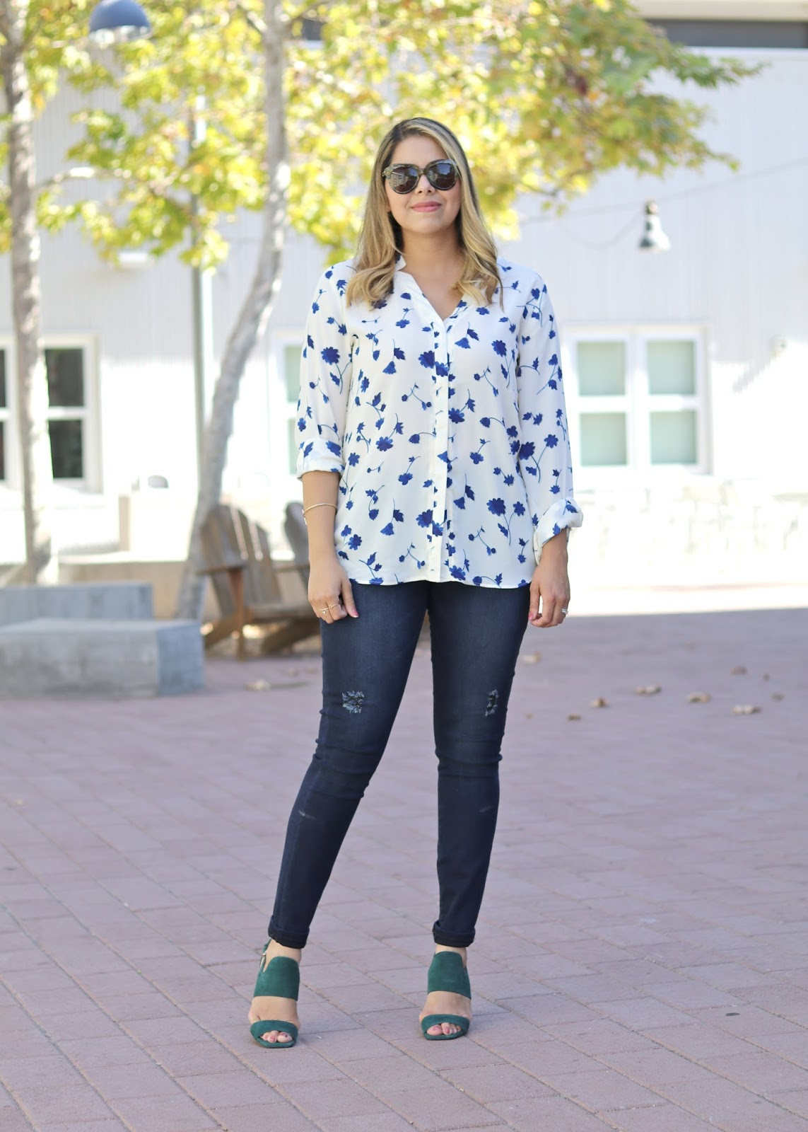 what to wear to work, young professional, fall florals 2016, banana republic collaboration with blogger, best of san diego street style