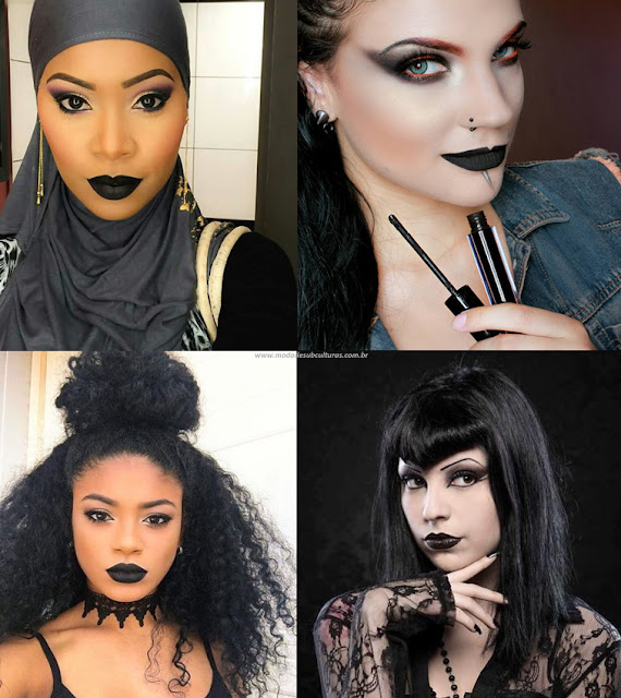 makeup black lipstick