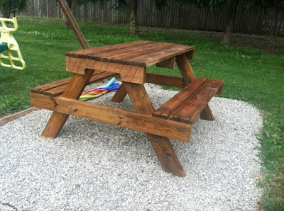 making a outdoor pallet coffee table with easy