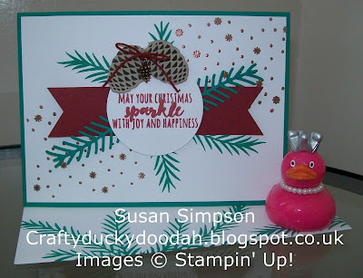 Stampin' Up! UK Independent Demonstrator Susan Simpson, Craftyduckydoodah!, Christmas Pines, Pretty Pines Thinlets, Supplies available 24/7,