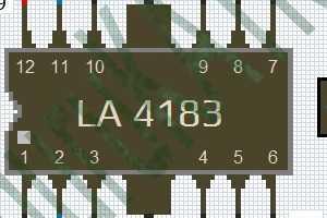 Skema Power Amplifier IC LA 4183