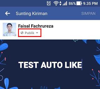 status facebook melalui HP