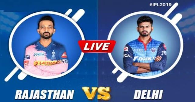 VIVO IPL 2019 Match 40 RR vs DC  Live Score and Full Scorecard