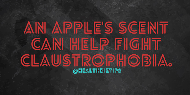 An apple's scent can help fight claustrophobia.
