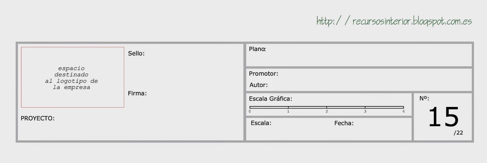 Descargar cajet n profesional para proyectos de for Pie de plano arquitectonico