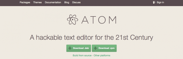 Como instalar o Atom 1.5.0 no Fedora22/21 e CentOS 7!