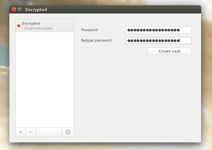 how to create encrypted folder dropbox veracrypt