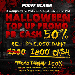 Halloween Top Up Promo PB Cash Hingga 150%
