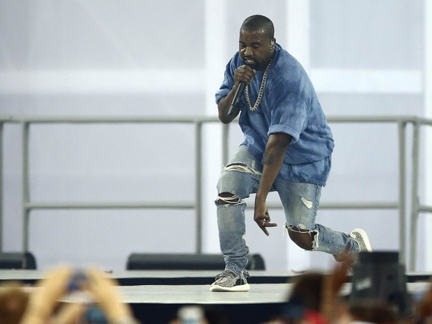 Kanye West performs on Sunday, 26, in Toronto, Canada