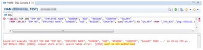 SAP HANA Dynamic Analytic