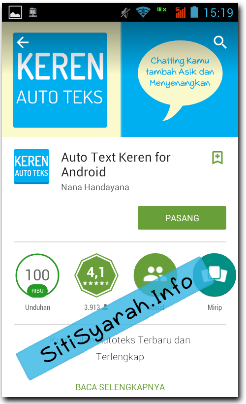 autotext BBM Android Kered