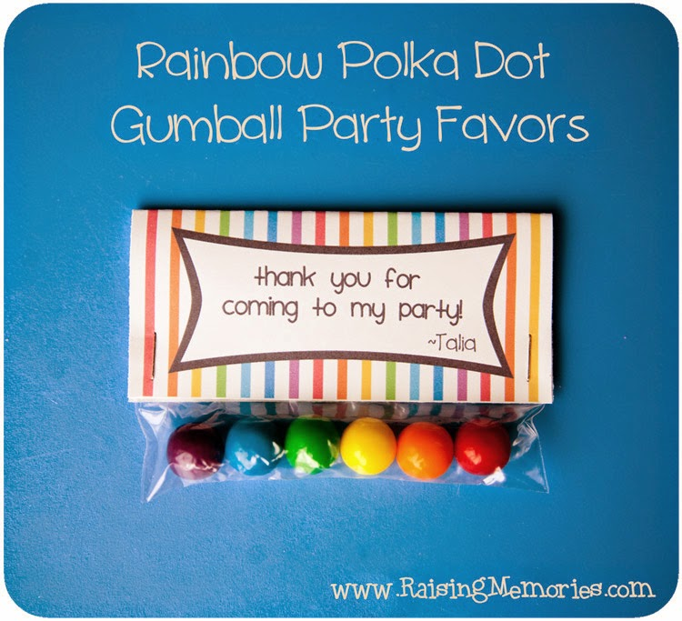 Rainbow Gumball Bag Topper Printable