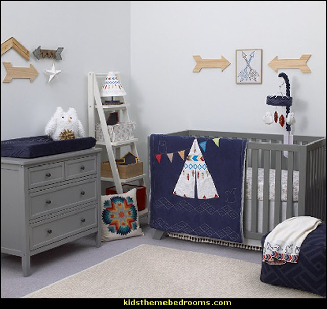 Tepee 4 Piece Baby Crib Bedding Set by NoJo